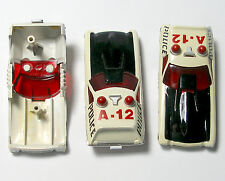3pc Faded 1977 Aurora AFX G+ G-PLUS SMOKIES MAGNUM WAGON Slot Car BODY Screecher