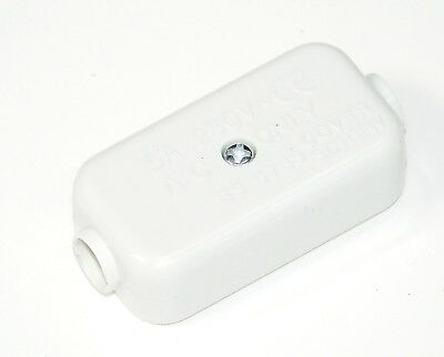 Gastfreundlich 5a Inline Connector Box 2 Terminal Junction Cable Flex Mains Electrical Joiner