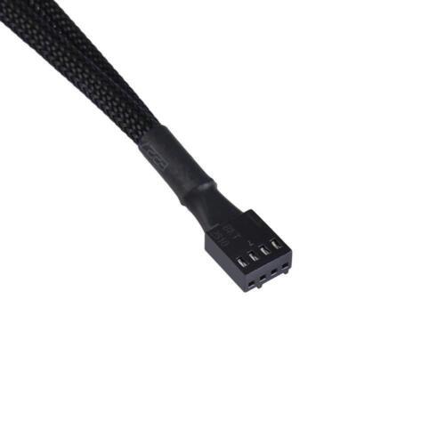 4pcs PWM Fan Splitter Cable Braided Splitter Computer PC Fan Power Converter