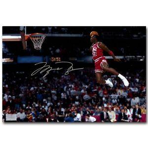 Image Is Loading Michael Jordan Dunks Poster Basketball Art Print Sport