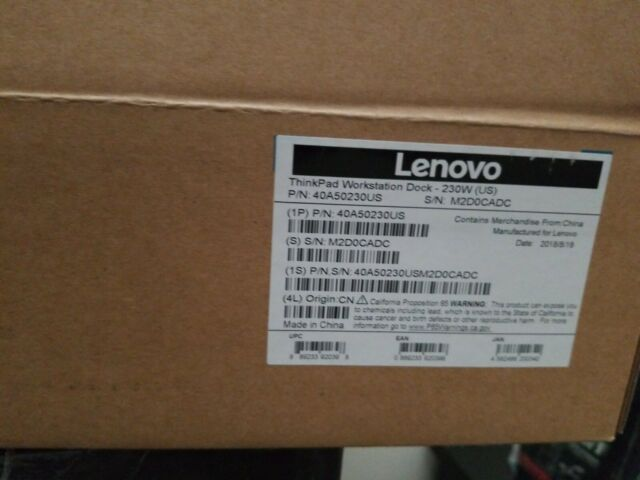 Lenovo ThinkPad Workstation Dock 40A5 Docking Station 04W3955 P50 P70 P51 P71
