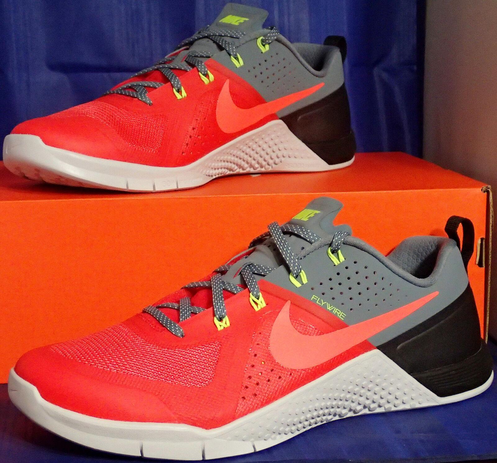 Nike metcon 1 audace red hot lava blu grafite crossfit sz 13 (704688-664)