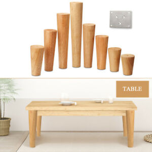 Image is loading Wooden-Cone-Furniture-Legs-Replacement-Stand-Feet-Sofa-  sc 1 st  eBay & Wooden Cone Furniture Legs Replacement Stand Feet Sofa Table Chair ...