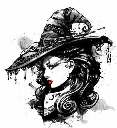 Halloween Holidays Fancy Witch Black Hat Cross Stitch Pattern