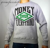 Time Is Money Over Everything Sweatshirt, Hip Hop Urban Cotton Pullover Sweater