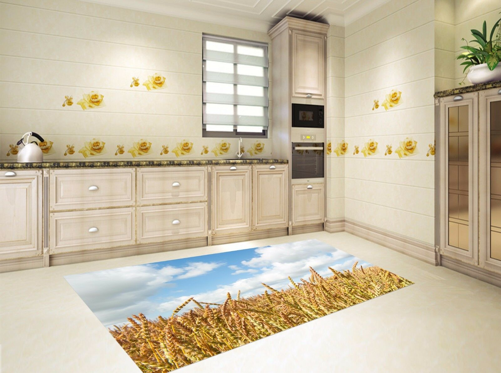 3D Paddy Field 806 Kitchen Mat Floor Murals Wall Print Wall AJ WALLPAPER UK Kyra
