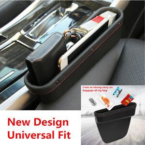 PU Car Seat Gap Slit Pocket Catch Catcher Box Caddy Coin Storage Organizer