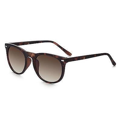 Sunglass Junkie Mens and Womens Tortoiseshell Preppy Round Sunglasses-C15064
