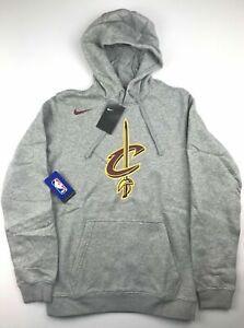 Nike Mens Large Cleveland Cavaliers Gray NBA Logo Club Sweatshirt Hoodie NWT