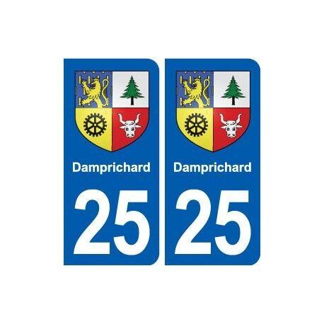 25 Damprichard blason autocollant plaque stickers droits
