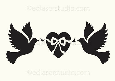 Love Quote Dove Heart Word Mylar Airbrush Painting Wall Art Crafts Stencil-XL
