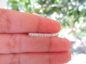 .33 Carat Diamond White Gold Half Eternity Ring 14k codeHE04 sepvergara