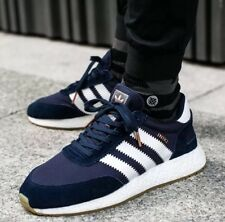 Adidas INIKI Runner Collegiate Navy Obsidian White GUM Boost Shoes BY9729 Sz 9