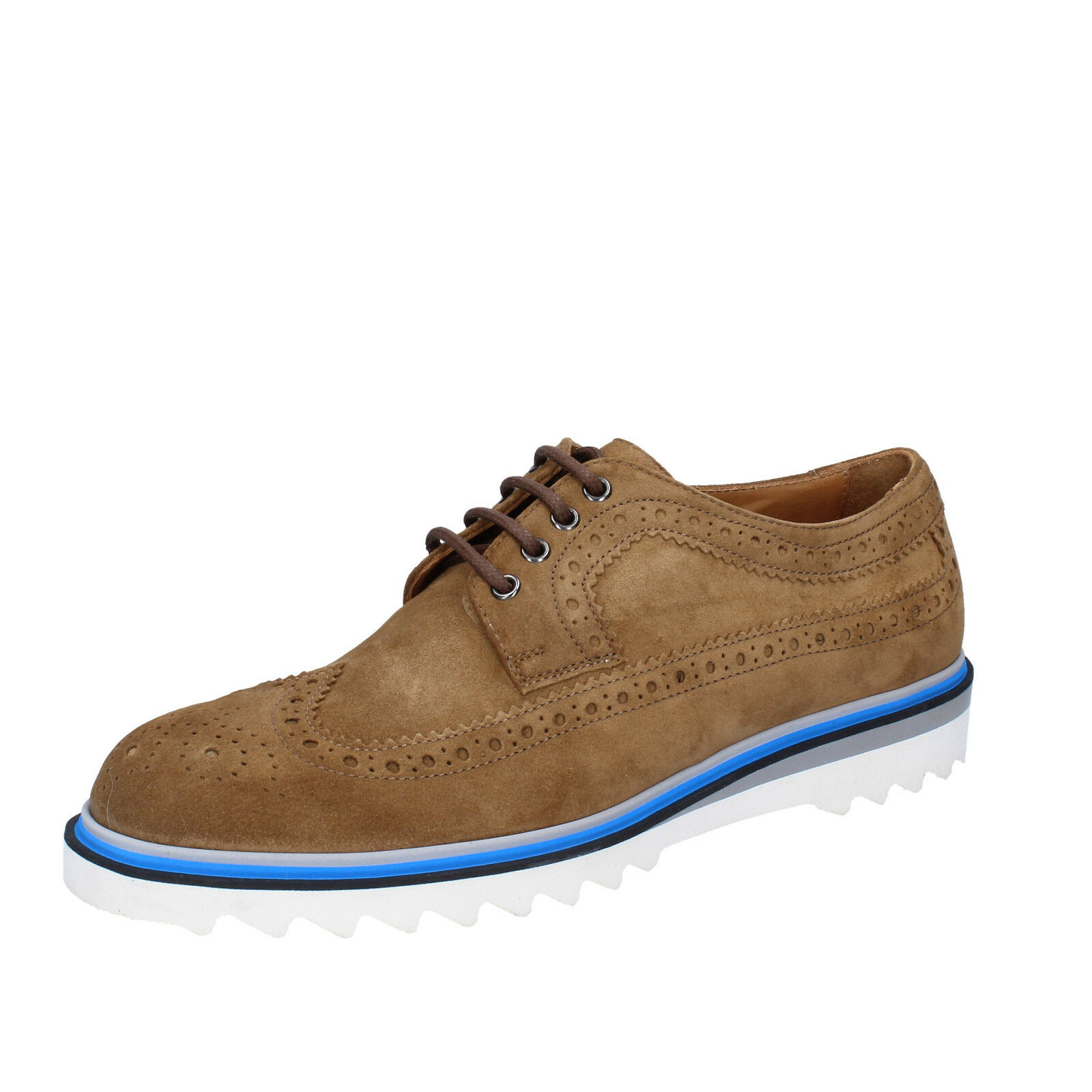 Men's zapatos K852 & SON 13 (EU 46) elegant marrón suede BT925-46