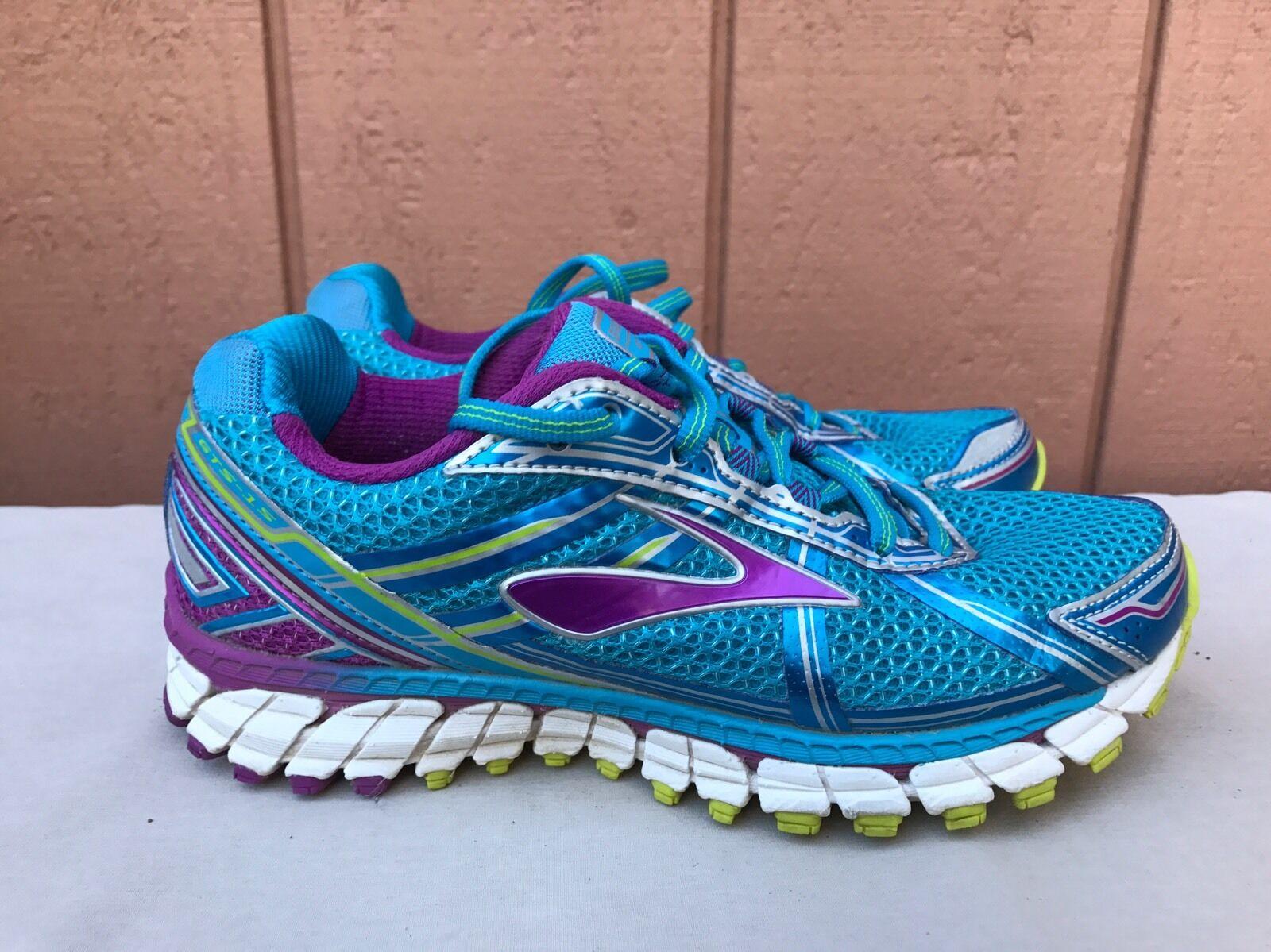 Menta Brooks Mujer Adrenaline GTS 15 Azul Morado Running zapatos nos 6.5B 37.5 euros