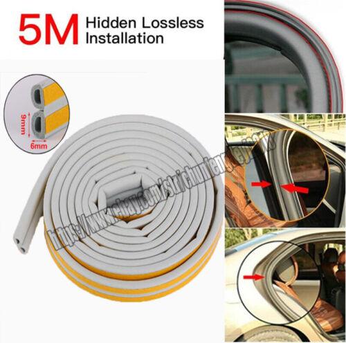 5M D Gray Car Door Window Trim Edge Moulding Rubber Weatherstrip Seal Strip