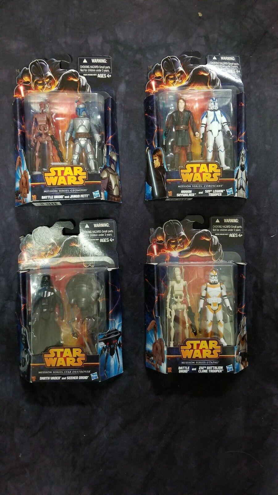 Hasbro Estrella Wars The Clone Wars misión Serie Completa conjunto sin abrir Collection