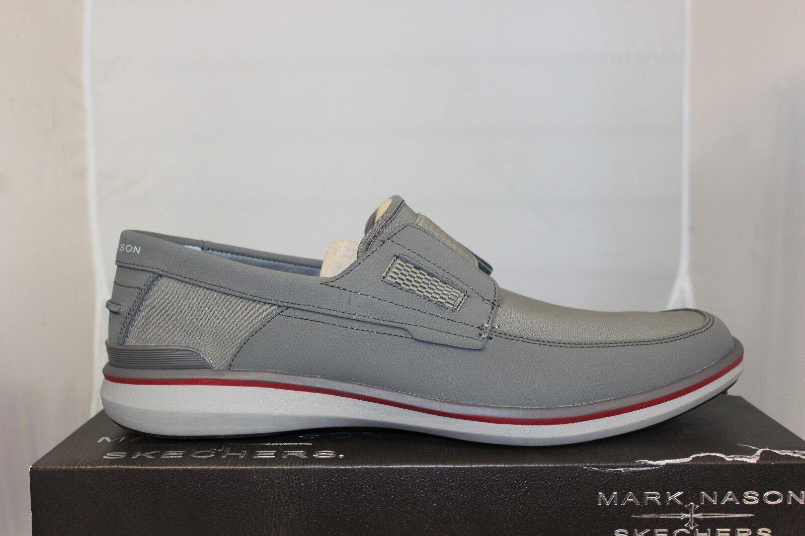 Men's Skechers Mark Nason Filey 68127 CHAR Charcoal Memory Foam Slip On Sz 7-14
