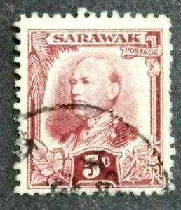 Malaya-1932-Sarawak-Charles-Vyner-Brooke-5c-1v-Used-2