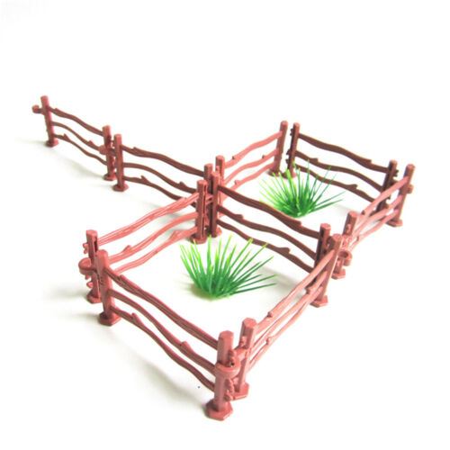 10XKids Military Sand Scene Toy Accessories Mini Simulation Double Hook Fence/_vi