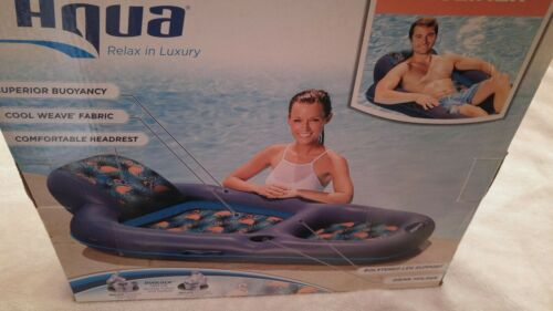 Aqua Leisure Luxury Recliner Pool Float Flamingo Flamingos Print New in Box