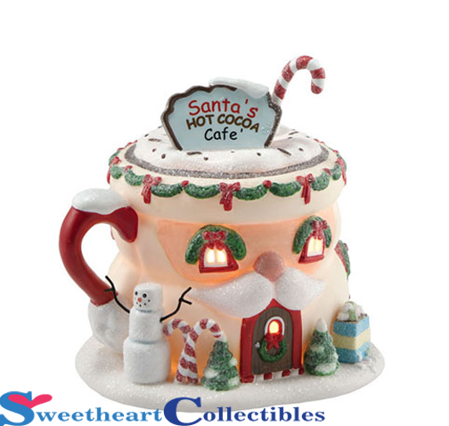 Department 56 North Pole 4020207 Village Santa's Hot Cocoa Cafe