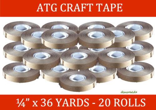 "20 Rolls 1//4/"" X 36 Yards ATG Craft Tape"