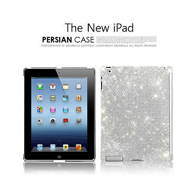 Dreamplus Apple New iPad 3G Swarovski Crystal Cubic Persian case cover+free gift