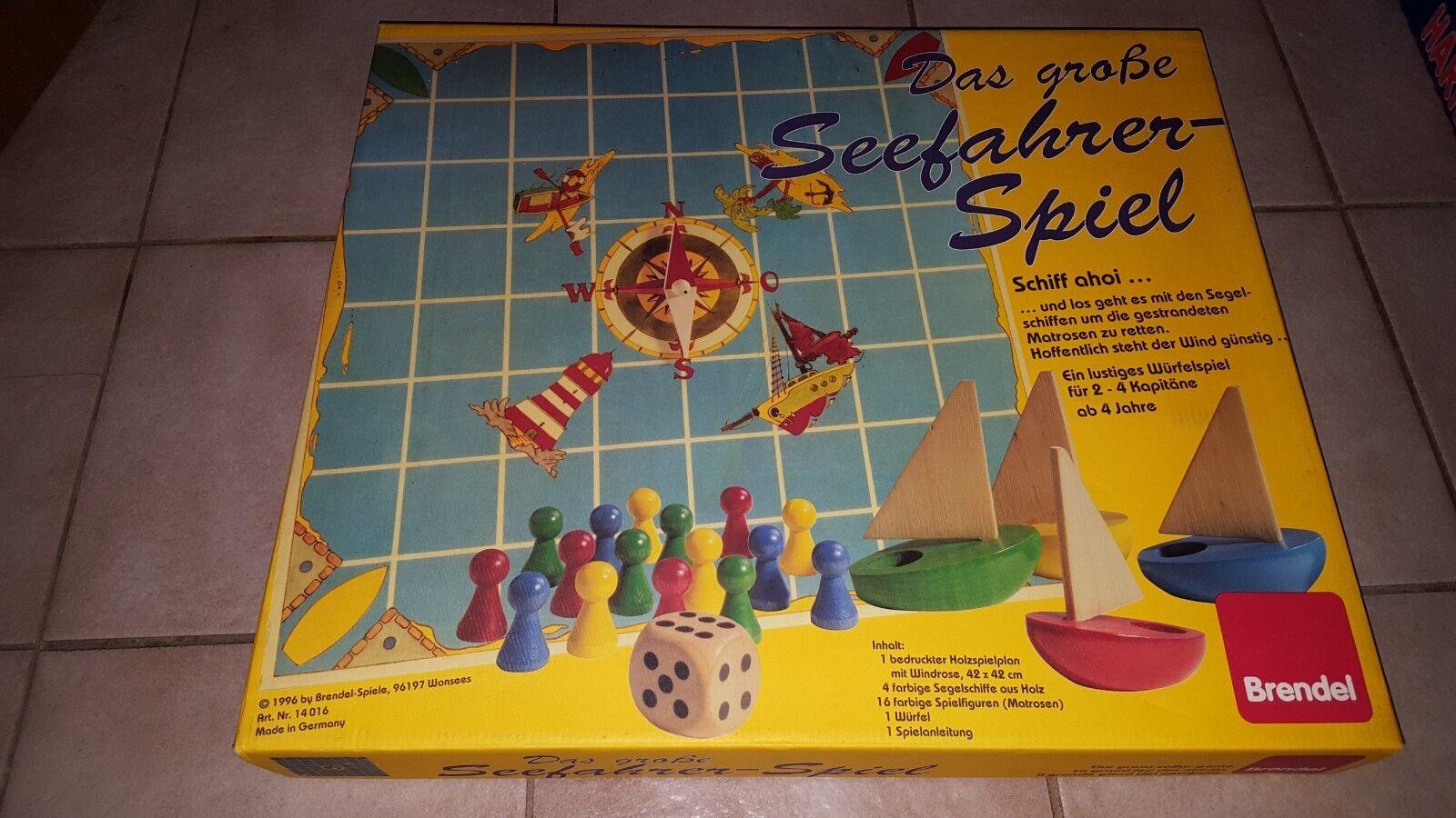 Brettspiel Brettspiel Brettspiel RARITÄT - BRENDEL 1996 - Das große Seefahrer Spiel - Holz - 4+ Jahre 12a1c2