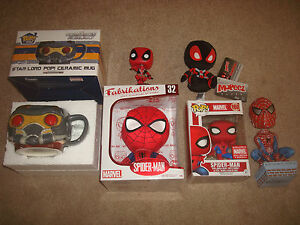 Marvel Collector Corps Toy Action Figure LOT Spider-Man Funko Pop Plush Deadpool