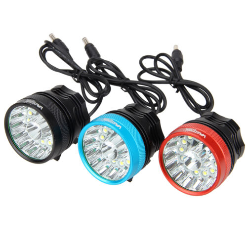 40000LM 14x XM-L T6 LED Bicycle Lamp Bike light Head Light Headlamp Rechargeable