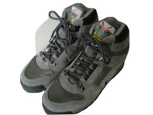 RAICHLE WOMENS INSULATED GRAY LEATHER HIKING TRAIL BOOTS SIZE 7 EXCELLENT