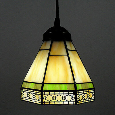 Pendant Lamp Light Fixture Tiffany Style Stained Glass Shade Entry Hallway Room Ebay
