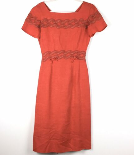VTG Fred A Block Originals 1950s Red Short Sleeve