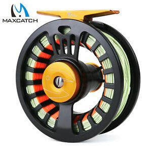 Maxcatch-3-4-5-6-7-8wt-Tail-Pre-Loaded-Fly-Fishing-Reel-amp-Fly-Line-Backing-Leader