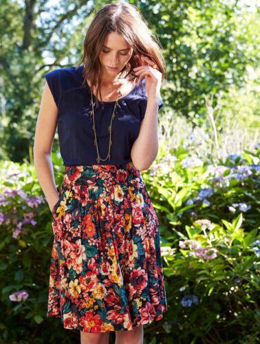 *SALE*  Nomads Boho Cotton Floral Summer Skirt Knee Length Fair Trade VL34
