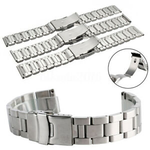 20-22-24MM-Silver-Stainless-Steel-Watch-Band-Wrist-Strap-Bracelet-Replacement