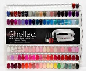 Cnd painted color chart nail palette 102 colour sampler lot of 2 2