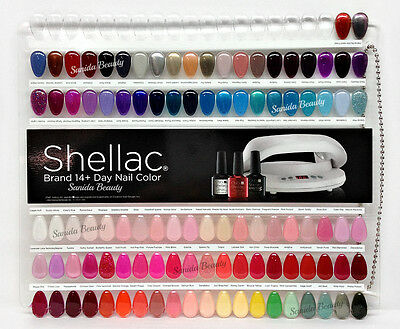 Cnd Painted Color Chart Nail Palette 102 Colour Sampler Lot Of 2 2 Free Posters Ebay