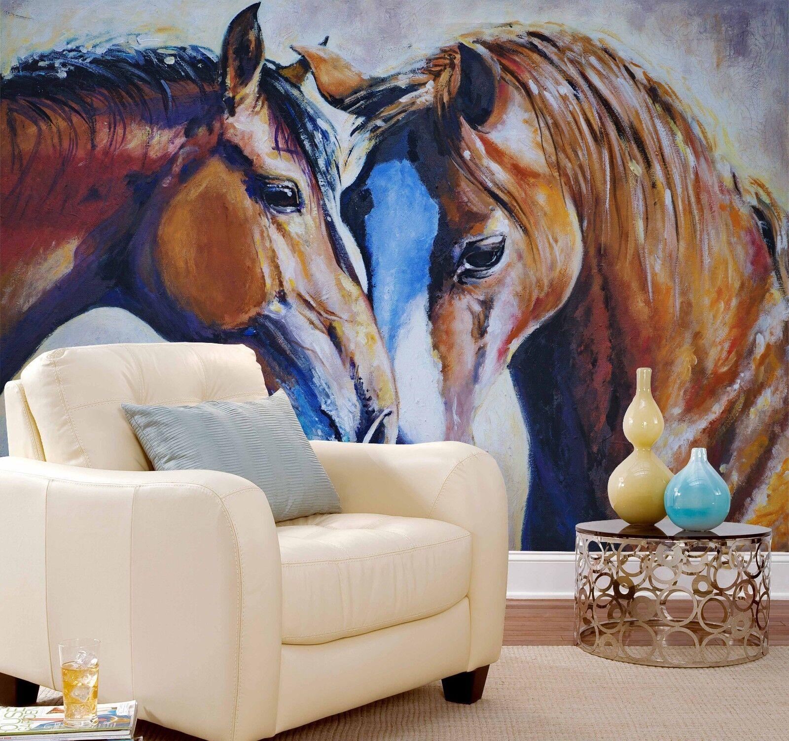 3D Gemaltes Pferd Tier Kunst Kunst Kunst 93 Tapete Wandgemälde Tapeten Bild Familie DE Lemon 0ecb6d