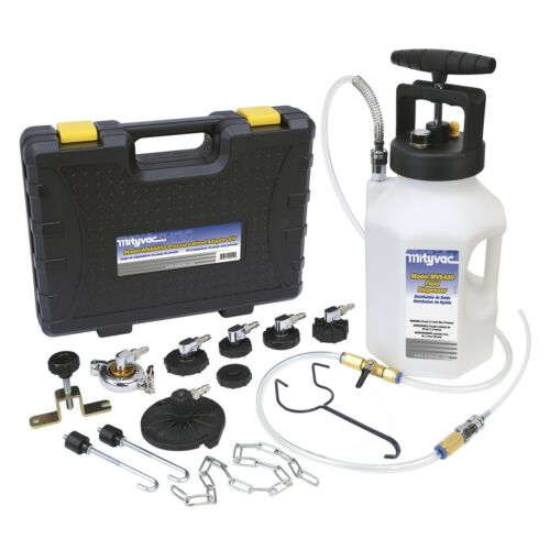 Mityvac MV6840 Brake and Clutch Pressure Bleeder Pump System Kit With Adapters