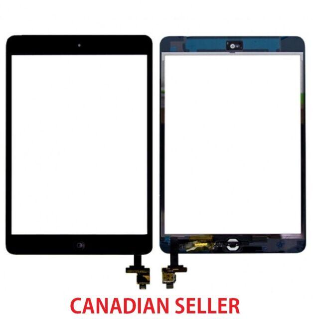 New iPad Mini 1 & 2 Glass Digitizer Touch Screen IC Chip Flex BLACK Assembly