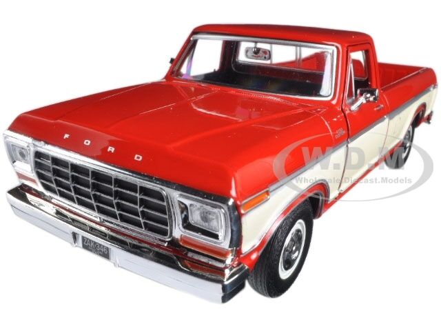 1 24 Burgundy 1979 Ford F 150 Pickup Truck Diecast MOTORMAX