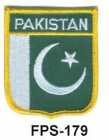 2-1/2'' X 2-3/4 Pakistan Flag Embroidered Shield Patch