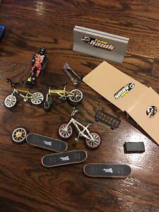 Tech Deck Lot - Skateboards, BMX Bikes, Scooter, Tony Hawk Ramps, Mini Tool Box