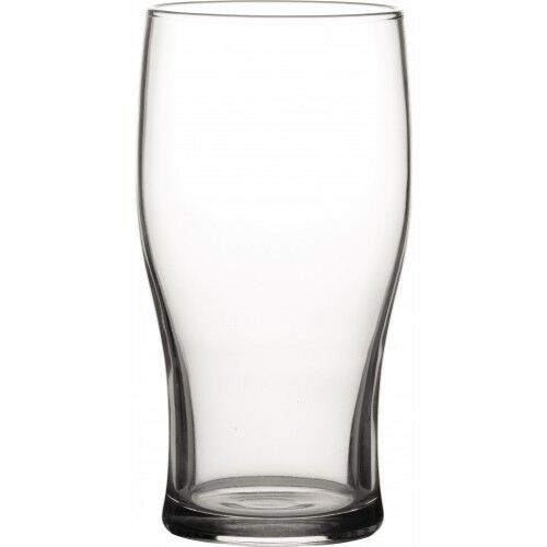 Tulip 20oz Pint Glass Lined at 10oz CE Toughened Shandy Glass Pack of 48