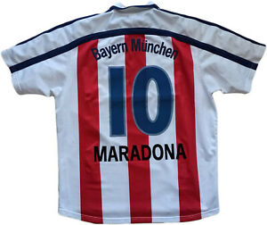 maglia-Maradona-Bayern-Monaco-farewell-match-MATTHAUS-Bayern-Munich-Shirt-opel