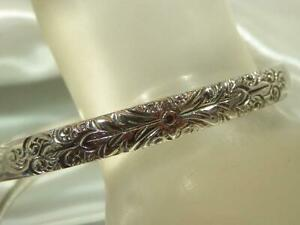 Wonderful-Vintage-1980-039-s-Whiting-Davis-Signed-Silver-Tone-Bracelet-16M9