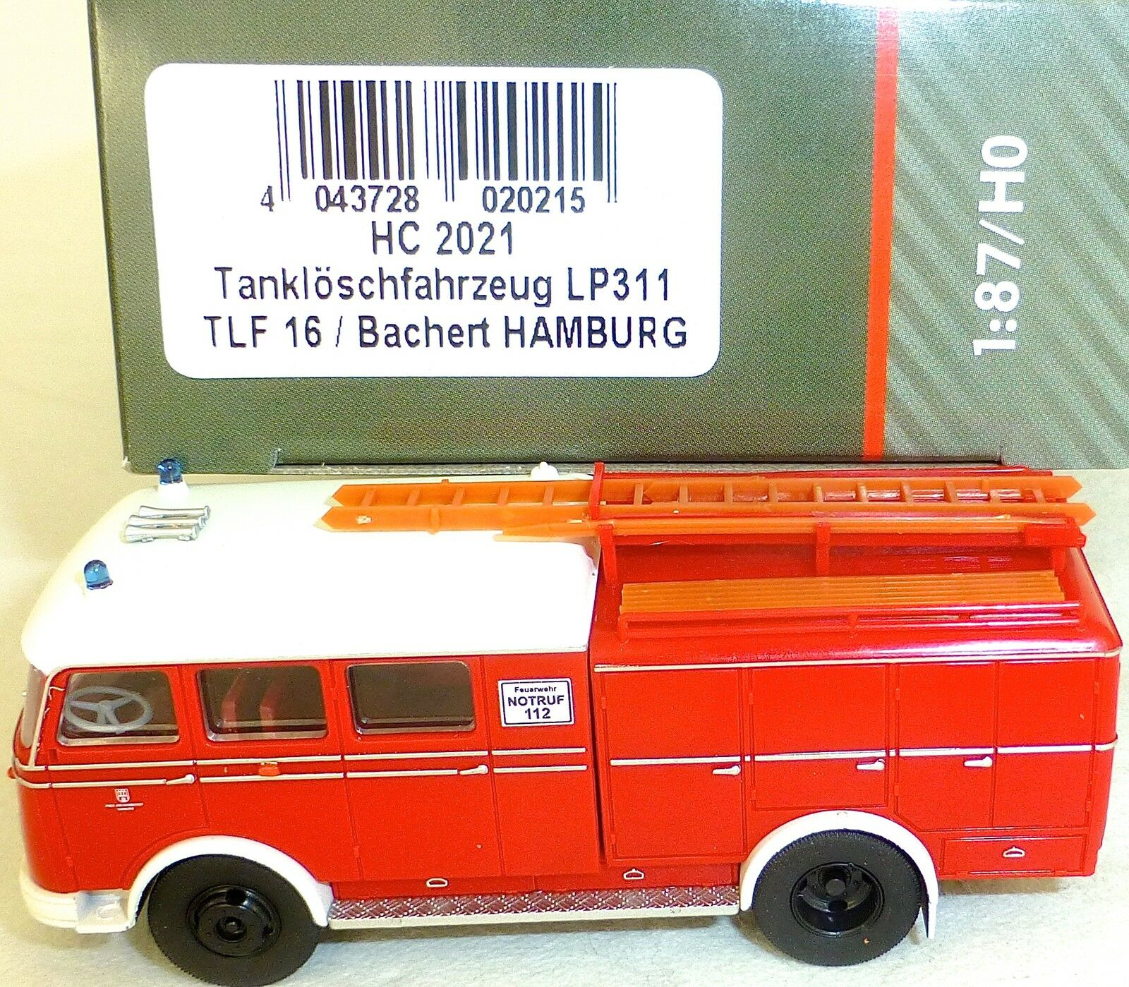 Tanklöschfahrzeug LP311 TLF16 Bachert HAMBURG HEICO HC2021 OVP Nµ