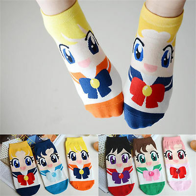 Cute Cotton Socks Cartoon Sailor Moon Spring Autumn Woman Girl Boat Sock New